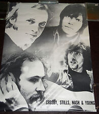 Crosby, Still, Nash, & Young - Original circa 1969-70 b&w poster never displayed