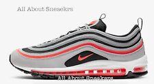 """Nike Air Max 97 """"gris lobo/Negro/blanco/r"""" Hombre Zapatillas Limited Stock Todos Los Tamaños"""