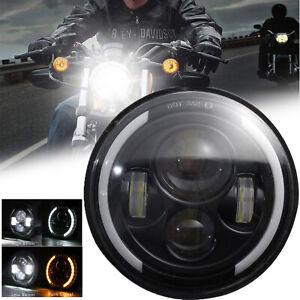 Universal 7'' Motorcycle Motorbike Headlight LED Front H4 Hi/Lo Light Headlamp