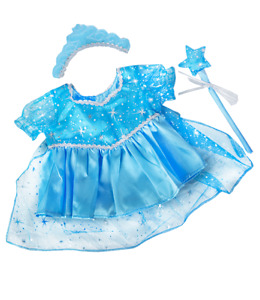"""Blue Fairy Snow Princess Frozen teddy clothes to fit 8"""" to 10"""" bears and animals"""