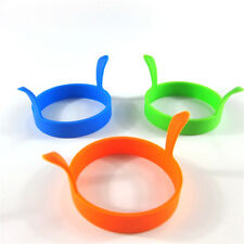 4 PCS Silicone Round Egg Rings Pancake Mold Ring W Handles Nonstick Fried Frying