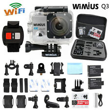 Wimius 4K Action Sports Camera waterproof WiFi 1080P 16MP DV sj9000 DVR +DV Bag