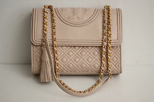 Tory Burch 'Fleming' Convertible Quilted Leather Shoulder Handbag - Bedrock Pink