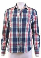 PEPE JEANS Womens Shirt Size 12 Medium Multicoloured Check Cotton  CZ05