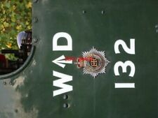 PHOTO  WD EMBLEM AND NUMBER OF MINISTRY OF SUPPLY AUSTERITY TYPE 0-6-0ST BUILT A