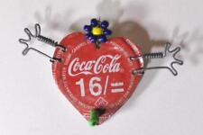 Coca Cola Bottle Cap Pin Antique Folk Art Primitive Americana Valentine Heart