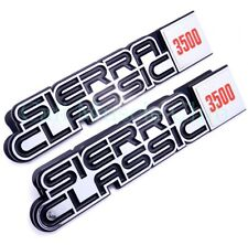 GMC Sierra Classic 3500 Fender Emblem Nameplate 1984 1985 1986 1987 1988 1989 2p
