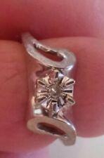 Estate Ring Size 3 1/2 (295) Ladies 10k White Gold Diamond Right