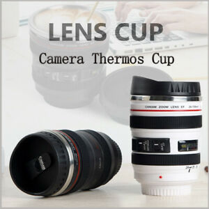 400ml Best Camera Lens Shaped Thermos  Stainless Steel Drink Water Cup Mug Gift!