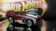 Hot Wheels 1969 Chevy Camaro Z28 Tooned Burgundy Chrome Interior