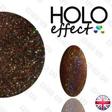 LASER Brown HOLO MERMAID EFFECT NAIL ART POWDER  Holographic < Coffee 17 >