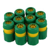 10Pcs 1/2 inch Hose Garden Tap Water Hose Pipe Connector Quick Connect Adap Q9B2