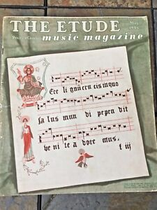 LATIN Come Adore Him THE ETUDE Magazine Sheet Music Included Issue MAY 1946 ❤️j8