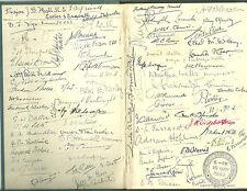 Livre Congrès Philatélique année Tunbridge Wells 1950 avec les membres signé handstamp