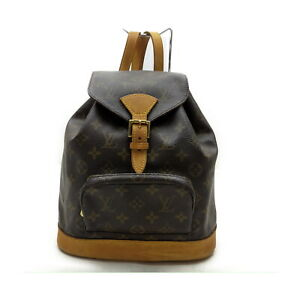 Louis Vuitton LV BackPack Bag Montsouris MM M51136 Browns Monogram 1529942