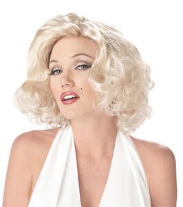 Adult Short Blonde Marilyn Monroe Costume Wig