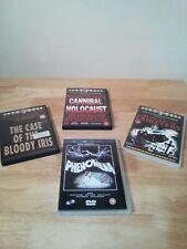 Cannibal Holocaust, Ruggero Deodato`s, x3 DVDs & Dario Argento Phenomena x1 DVD