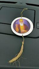 Sikh GURU nanak BIADESIVO OLOGRAFICA onkar CIONDOLO CD Stile Disco Auto da appendere