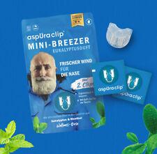 aspUraclip Mini-Breezer Eukalyptusduft: 6x Nasenclips mit ätherischen Bio-Ölen.
