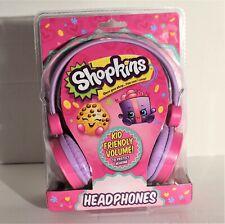 Shopkins Headphones Built in Volume Limiting Kid Friendly Safe Listening