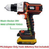 Black+Decker 20V MAX Cordless Tools Adapter Work with Dewalt 20V Li-Ion Battery