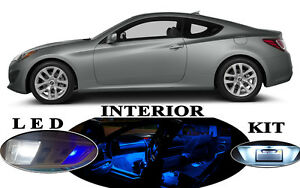 LED Package -Interior + License Plate + Vanity for Hyundai Genesis Coupe 10 Pcs