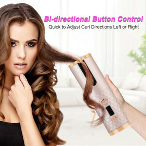 Wireless Automatic Curling Iron Ceramic Hair Curler LCD Curly Salon Hair Styling