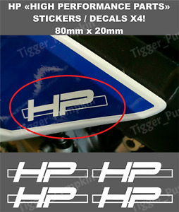 HP Decals / Stickers for BMW S1000RR HP4 (Set of 4 Stickers) (No Background)