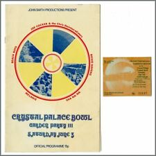 Beach Boys 72 Crystal Palace Bowl Garden Party Iii Programme & Ticket Stub Uk