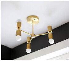 Minimal Chandelier - Modern Ceiling Lighting -  Ceiling Fixture -Brushed Brass