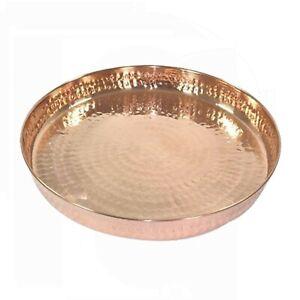Pure Copper Hammered Dinner Set Thali Plate Serveware Dinnerware Hotel Tableware
