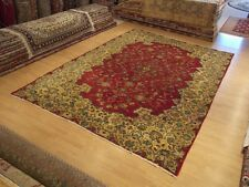 8 x 12  High Quality Hand Knotted Antique Persian Royal Kashan Fine Wool Rug
