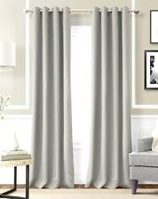 "2 PANELS SILVER GROMMET THERMAL LINED BLACKOUT WINDOW CURTAIN DRAPE 55"" X 63""K60"