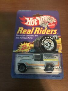 Hot Wheels Jeep Scrambler Real Riders #4370 New in Pack 1982 Gry 1:64 w/Protecto