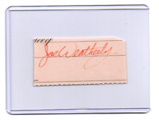 Joe Weatherly original hand signed autograph