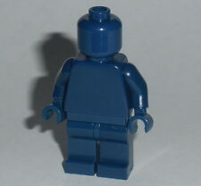 STATUE MINIFIG Lego Solid-Plain DARK BLUE MiniFigure NEW Genuine Lego Monochrome
