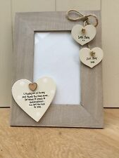 Shabby personalised Chic Photo Frame Goddaughter  Baptism Gift Present