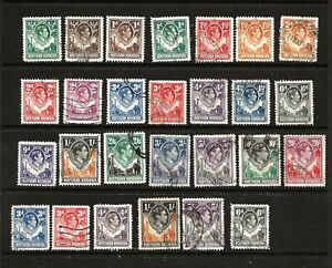 NORTHERN RHODESIA (Z-760)1938 SG26-45 FULL SET OF 21 + 6 EXTRA GOOD TO FINE USED