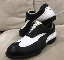 Mens Awesome Puma Golf Shoes Boots Leather Black White 7.5 US 6.5 UK Great