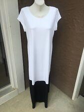New $119 Chico's Colorblock Black & White Maxi Dress Size 2 = L Large 12 14 NWT