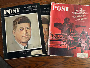 Post Magazine Kennedy Assassination -Lot Of 3:  12/14/1963 (2) And 1/14/1967