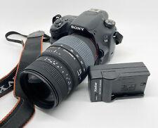 SONY DigitaL SLR Camera Sony Alpha SLT-A58 20.1MP W/ Sigma 70-300mm Lens