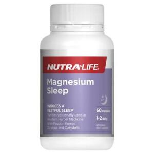 New Nutralife Magnesium Sleep 60 Capsules Nutra Life