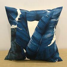 "BLUE PALM LEAVES Cushion Cover Pillow Case. Made Australia 18"" (45cm)"