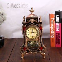 European Retro Table Clock Modern Design Decorative Bedroom Antique Clock