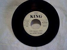 1962 THE ORIGINAL CHECKERS-Over The Rainbow,Love Wasn't There,king 5592 45,R&B