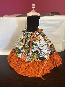ooak handmade barbie clothes ball gown dress halloween new