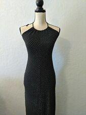 RAMPAGE Size S  stripped  Halter Maxi Dress  Black white