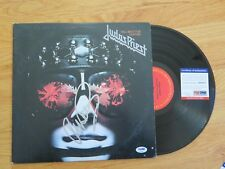 JUDAS PRIEST Front man ROB HALFORD signed HELL BENT FOR LEATHER 1978 Record PSA