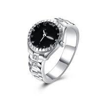Creative Fashion Unisex Steel Round Elastic Quartz Finger Ring Watch Menl Gift